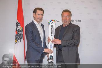 Schwarzenegger trifft Kurz - Bundeskanzleramt - Di 29.01.2019 - Arnold SCHWARZENEGGER, Sebastian KURZ31