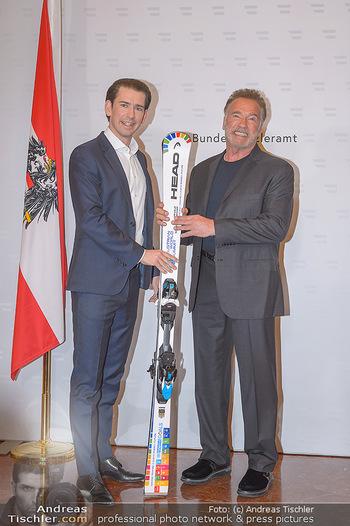 Schwarzenegger trifft Kurz - Bundeskanzleramt - Di 29.01.2019 - Arnold SCHWARZENEGGER, Sebastian KURZ32
