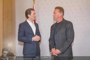 Schwarzenegger trifft Kurz - Bundeskanzleramt - Di 29.01.2019 - Arnold SCHWARZENEGGER, Sebastian KURZ43