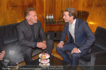 Schwarzenegger trifft Kurz - Bundeskanzleramt - Di 29.01.2019 - Arnold SCHWARZENEGGER, Sebastian KURZ49