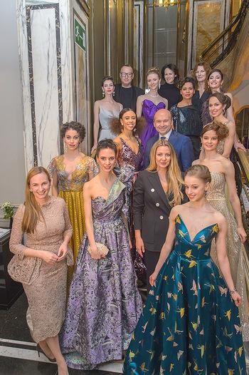 Couture Salon - Hotel Bristol Wien - Di 12.02.2019 - Dominique MEYER und Maria GROßBAUER mit Solotänzern und Solot79