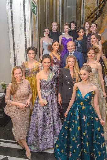 Couture Salon - Hotel Bristol Wien - Di 12.02.2019 - Dominique MEYER und Maria GROßBAUER mit Solotänzern und Solot80