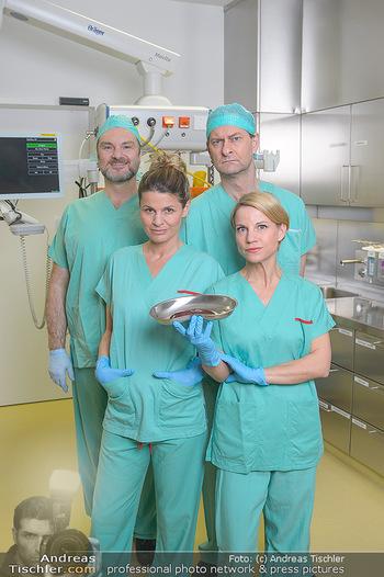 Fotoshooting zu ´Die Niere´ - Krankenhaus - Mo 18.02.2019 - Kristina SPRENGER, Doris HINDINGER, Alexander JAGSCH, Martin LEU3