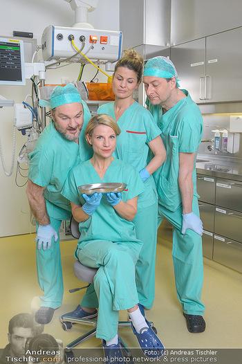 Fotoshooting zu ´Die Niere´ - Krankenhaus - Mo 18.02.2019 - Kristina SPRENGER, Doris HINDINGER, Alexander JAGSCH, Martin LEU8