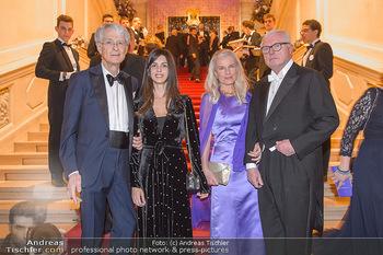 Kaffeesiederball - Hofburg Wien - Fr 22.02.2019 - Martino ZANETTI mit Tochter Beatrice, Hildegard und Markus HABSB53