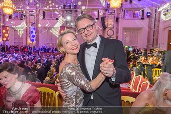 Kaffeesiederball - Hofburg Wien - Fr 22.02.2019 - Kristina SPRENGER mit Ehemann Gerald GERSTBAUER125