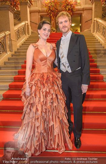 Opernball 2019 - Feststiege - Wiener Staatsoper - Do 28.02.2019 - Lena HOSCHEK, Thomas KIRCHGRABNER18