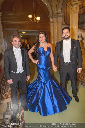 Opernball 2019 - Feststiege - Wiener Staatsoper - Do 28.02.2019 - Marco ARMILIATO, Anna NETREBKO, Yusif EYVAZOV64