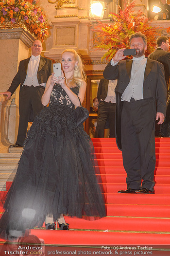 Opernball 2019 - Feststiege - Wiener Staatsoper - Do 28.02.2019 - Gabriel BARYLLI, Silvia Sylvia LEIFHEIT212