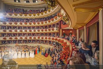 Opernball 2019 - Das Fest - Wiener Staatsoper - Do 28.02.2019 - Übersichtsfoto, Logenfoto, Blick aus Loge, Ballsaal, Eröffnung3