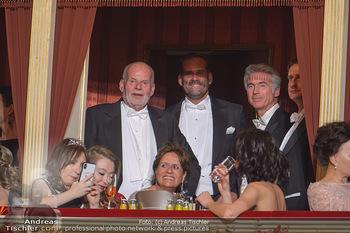 Opernball 2019 - Das Fest - Wiener Staatsoper - Do 28.02.2019 - Manfred AINEDTER mit Sohn Klaus und Ehefrau Miriam5