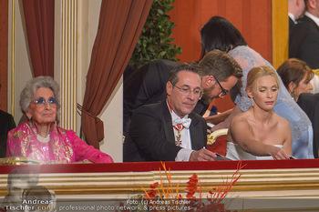 Opernball 2019 - Das Fest - Wiener Staatsoper - Do 28.02.2019 - Lotte TOBISCH, Heinz Christian HC und Philippa STRACHE10