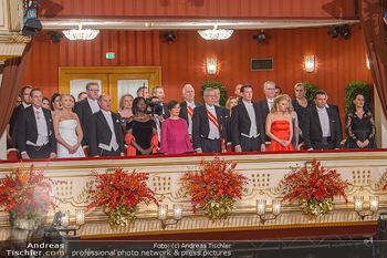 Opernball 2019 - Das Fest - Wiener Staatsoper - Do 28.02.2019 - Regierungsloge, Mittelloge, STRACHE, VAN DER BELLEN, OBAMA, SOBO19