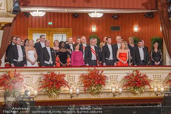Opernball 2019 - Das Fest - Wiener Staatsoper - Do 28.02.2019 - Regierungsloge, Mittelloge, STRACHE, VAN DER BELLEN, OBAMA, SOBO20