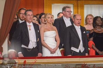 Opernball 2019 - Das Fest - Wiener Staatsoper - Do 28.02.2019 - Heinz Christian HC und Philippa STRACHE, Wolfgang SOBOTKA21