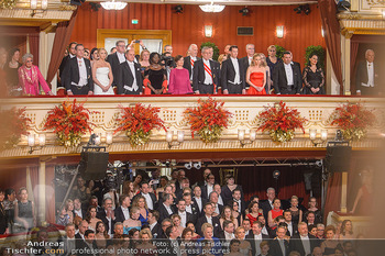 Opernball 2019 - Das Fest - Wiener Staatsoper - Do 28.02.2019 - Regierungsloge, Mittelloge, STRACHE, VAN DER BELLEN, OBAMA, SOBO23