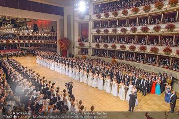 Opernball 2019 - Das Fest - Wiener Staatsoper - Do 28.02.2019 - Übersichtsfoto, Logenfoto, Blick aus Loge, Ballsaal, Eröffnung25