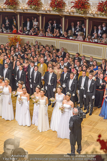 Opernball 2019 - Das Fest - Wiener Staatsoper - Do 28.02.2019 - Übersichtsfoto, Logenfoto, Blick aus Loge, Ballsaal, Eröffnung26