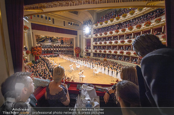 Opernball 2019 - Das Fest - Wiener Staatsoper - Do 28.02.2019 - Übersichtsfoto, Logenfoto, Blick aus Loge, Ballsaal, Eröffnung31