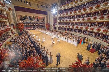Opernball 2019 - Das Fest - Wiener Staatsoper - Do 28.02.2019 - Übersichtsfoto, Logenfoto, Blick aus Loge, Ballsaal, Eröffnung32