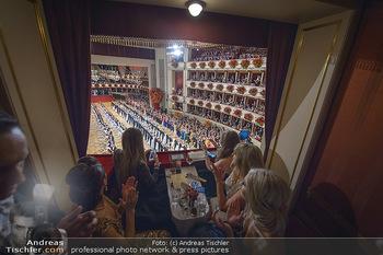 Opernball 2019 - Das Fest - Wiener Staatsoper - Do 28.02.2019 - Blick aus Loge auf den Ballsaal, Übersichtsfoto, Eröffnung61