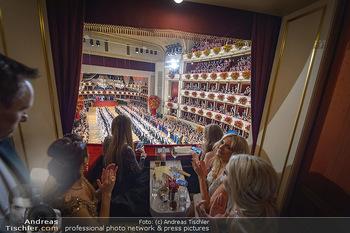 Opernball 2019 - Das Fest - Wiener Staatsoper - Do 28.02.2019 - Blick aus Loge auf den Ballsaal, Übersichtsfoto, Eröffnung62