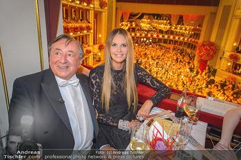 Opernball 2019 - Das Fest - Wiener Staatsoper - Do 28.02.2019 - Elle MACPHERSON, Richard LUGNER75