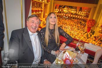 Opernball 2019 - Das Fest - Wiener Staatsoper - Do 28.02.2019 - Elle MACPHERSON, Richard LUGNER78