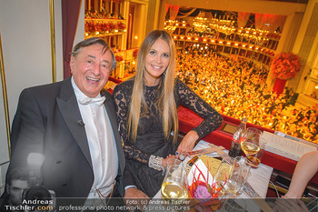 Opernball 2019 - Das Fest - Wiener Staatsoper - Do 28.02.2019 - Elle MACPHERSON, Richard LUGNER80