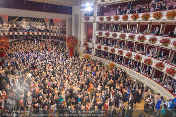 Opernball 2019 - Das Fest - Wiener Staatsoper - Do 28.02.2019 - Ballsaal Übersicht, Tanzfläche, Gäste, Übersichtsfoto, Logen85