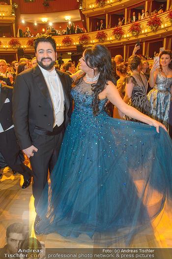 Opernball 2019 - Das Fest - Wiener Staatsoper - Do 28.02.2019 - Anna NETREBKO, Yusif EYVAZOV auf der Tanzfläche97