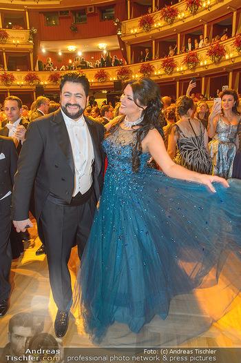 Opernball 2019 - Das Fest - Wiener Staatsoper - Do 28.02.2019 - Anna NETREBKO, Yusif EYVAZOV auf der Tanzfläche98