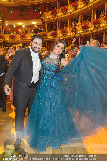 Opernball 2019 - Das Fest - Wiener Staatsoper - Do 28.02.2019 - Anna NETREBKO, Yusif EYVAZOV auf der Tanzfläche99