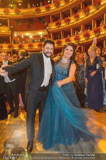 Opernball 2019 - Das Fest - Wiener Staatsoper - Do 28.02.2019 - Anna NETREBKO, Yusif EYVAZOV auf der Tanzfläche100