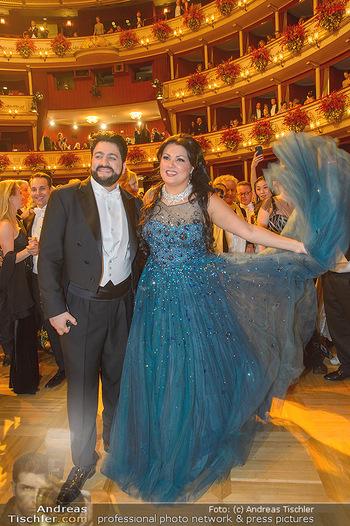 Opernball 2019 - Das Fest - Wiener Staatsoper - Do 28.02.2019 - Anna NETREBKO, Yusif EYVAZOV auf der Tanzfläche102