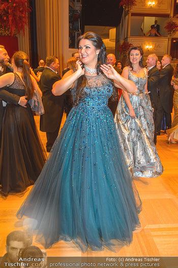 Opernball 2019 - Das Fest - Wiener Staatsoper - Do 28.02.2019 - Anna NETREBKO mit Schwester Natalia119