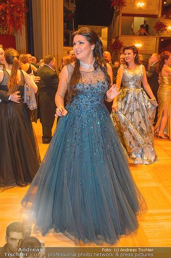 Opernball 2019 - Das Fest - Wiener Staatsoper - Do 28.02.2019 - Anna NETREBKO mit Schwester Natalia120
