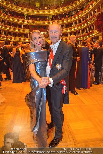 Opernball 2019 - Das Fest - Wiener Staatsoper - Do 28.02.2019 - Wolfgang RUTTENSTORFER mit Ehefrau Susanne133
