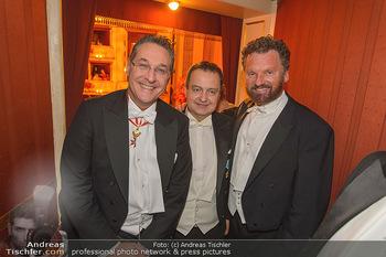 Opernball 2019 - Das Fest - Wiener Staatsoper - Do 28.02.2019 - Heinz Christian HC STRACHE, Ivica DACIC, Gabriel BARYLLI138