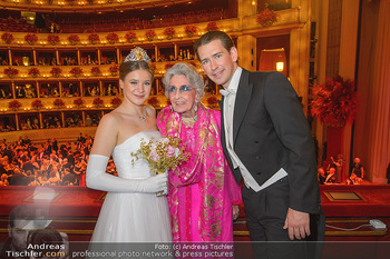 Opernball 2019 - Das Fest - Wiener Staatsoper - Do 28.02.2019 - Anna MIKL, Lotte TOBISCH, Sebastian KURZ140