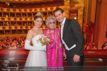 Opernball 2019 - Das Fest - Wiener Staatsoper - Do 28.02.2019 - Anna MIKL, Lotte TOBISCH, Sebastian KURZ141