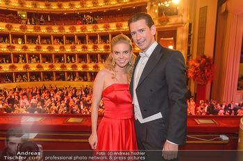 Opernball 2019 - Das Fest - Wiener Staatsoper - Do 28.02.2019 - Sebastian KURZ, Susanne THIER143