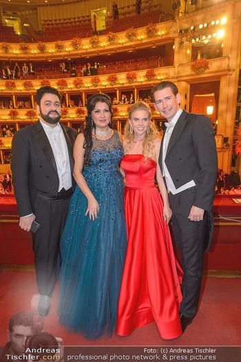 Opernball 2019 - Das Fest - Wiener Staatsoper - Do 28.02.2019 - Yusif EYVAZOV, Anna NETREBKO, Sebastian KURZ, Susanne THIER145
