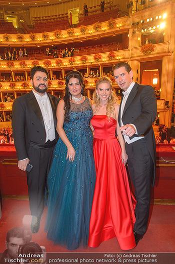 Opernball 2019 - Das Fest - Wiener Staatsoper - Do 28.02.2019 - Yusif EYVAZOV, Anna NETREBKO, Sebastian KURZ, Susanne THIER147