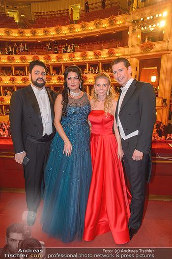 Opernball 2019 - Das Fest - Wiener Staatsoper - Do 28.02.2019 - Yusif EYVAZOV, Anna NETREBKO, Sebastian KURZ, Susanne THIER148