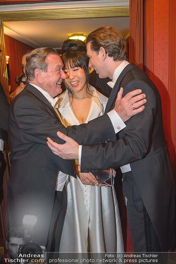 Opernball 2019 - Das Fest - Wiener Staatsoper - Do 28.02.2019 - Gerhard SCHRÖDER, Kim SO-YEON, Sebastian KURZ158