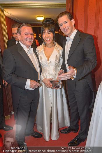 Opernball 2019 - Das Fest - Wiener Staatsoper - Do 28.02.2019 - Gerhard SCHRÖDER, Kim SO-YEON, Sebastian KURZ160