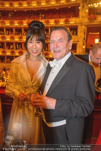 Opernball 2019 - Das Fest - Wiener Staatsoper - Do 28.02.2019 - Gerhard SCHRÖDER, Kim SO-YEON161