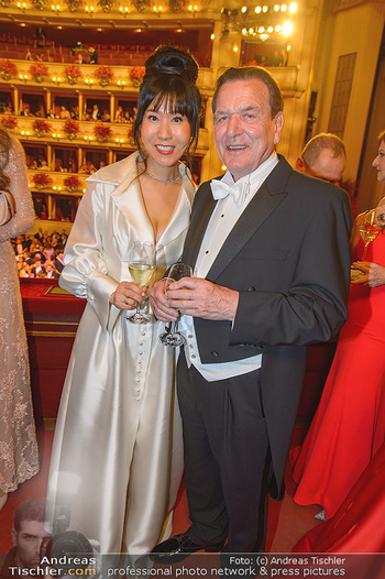 Opernball 2019 - Das Fest - Wiener Staatsoper - Do 28.02.2019 - Gerhard SCHRÖDER, Kim SO-YEON162