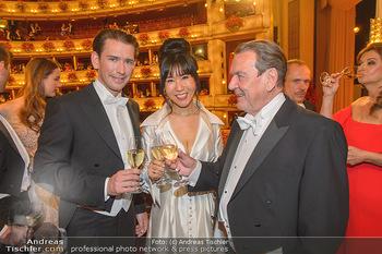 Opernball 2019 - Das Fest - Wiener Staatsoper - Do 28.02.2019 - Gerhard SCHRÖDER, Kim SO-YEON, Sebastian KURZ165